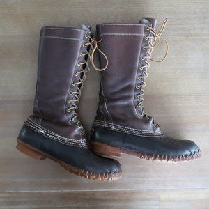 LL Bean Tall Knee High Leather Hunting Duck Boots